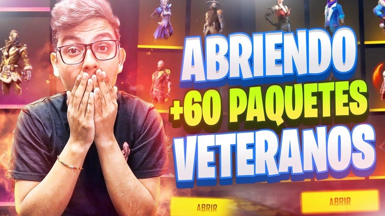 ABRIENDO +60 PAQUETES DE SKINS VETERANAS Y EXCLUSIVAS EN FREE FIRE!