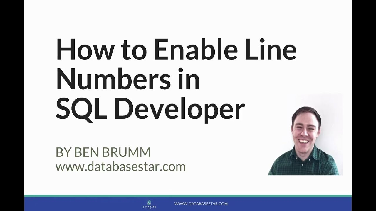 How to Enable Line Numbers in SQL Developer - YouTube