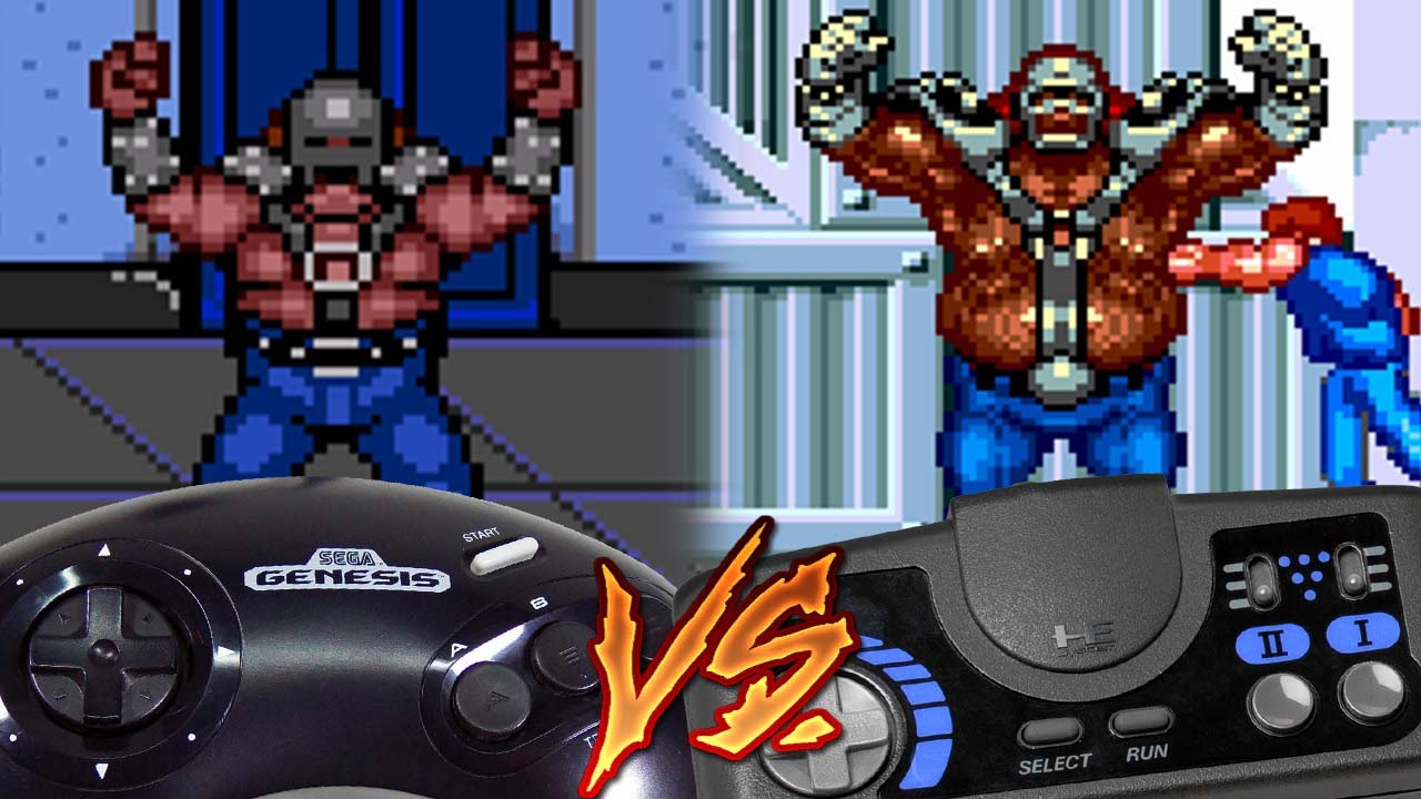 Sega Genesis Vs Pc Engine Cd Double Dragon Ii The Revenge Youtube