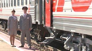 В Вологде презентовали новые плацкартные вагоны(В Вологде железнодорожники презентовали новые плацкартные вагоны. Они будут входить в составы поездов,..., 2016-06-16T06:29:17.000Z)