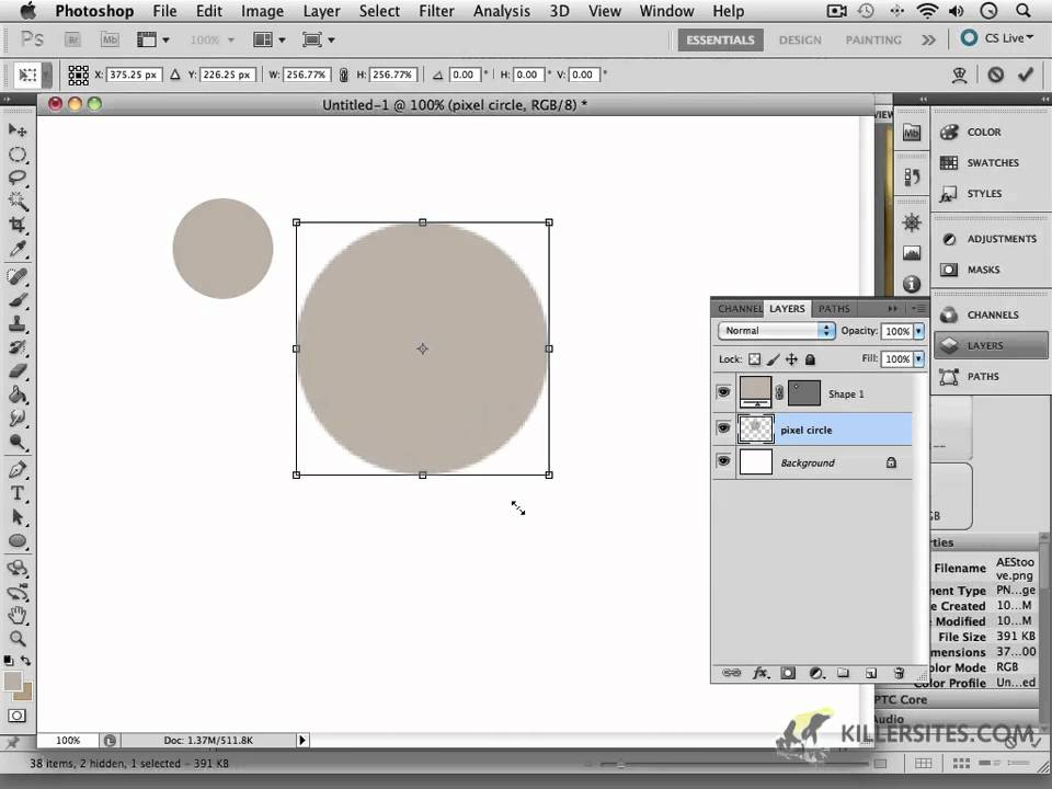 Photoshop Cs5 Intro To Vector Tools