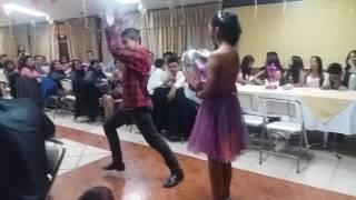Declaracion de amor en fiesta de 15 anos con el baile del caporal