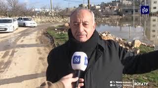 بركة مياه في عبين تهدد سلامة المواطنين (25-1-2020)