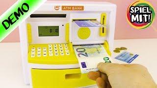 NEUER GELDAUTOMAT FÜR ZUHAUSE mit Kassen Funktion für Geldscheine & Münzen! Spardose mit EC-Karte