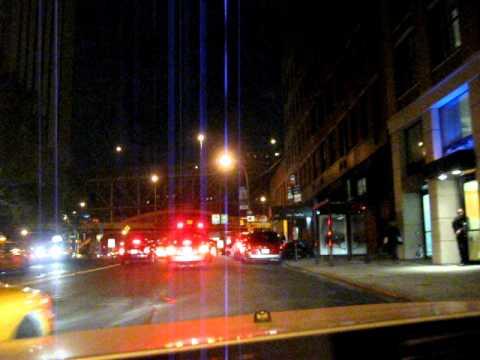 Driving through Manhattan NYC by night