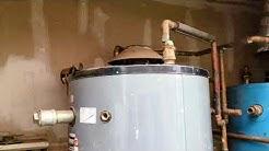 100 gal water heater instal PT 1