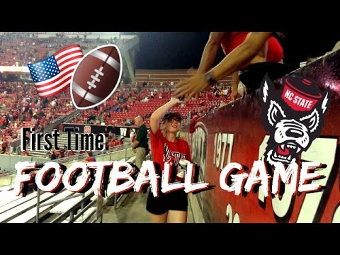 First time: American Football game  college football