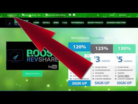 BoostRevShare Новый Маркетинг план рекламного проекта BoostRevShare  с 1 июня 2016