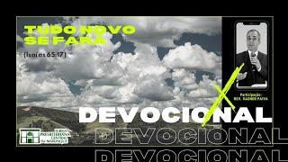 Devocional | TUDO NOVO, SE FARÁ | 31/12/2020