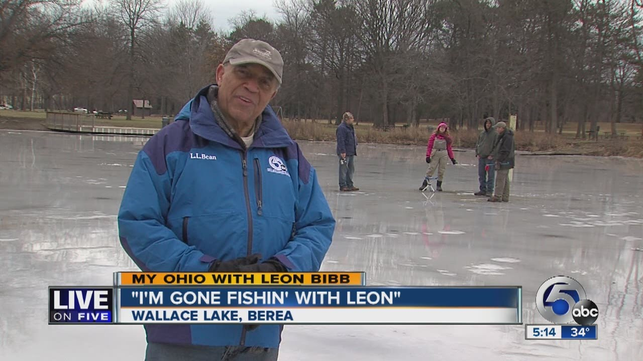 5pm leon bibb 39 s my ohio ice fishing on wallace lake in for Cleveland fishing report