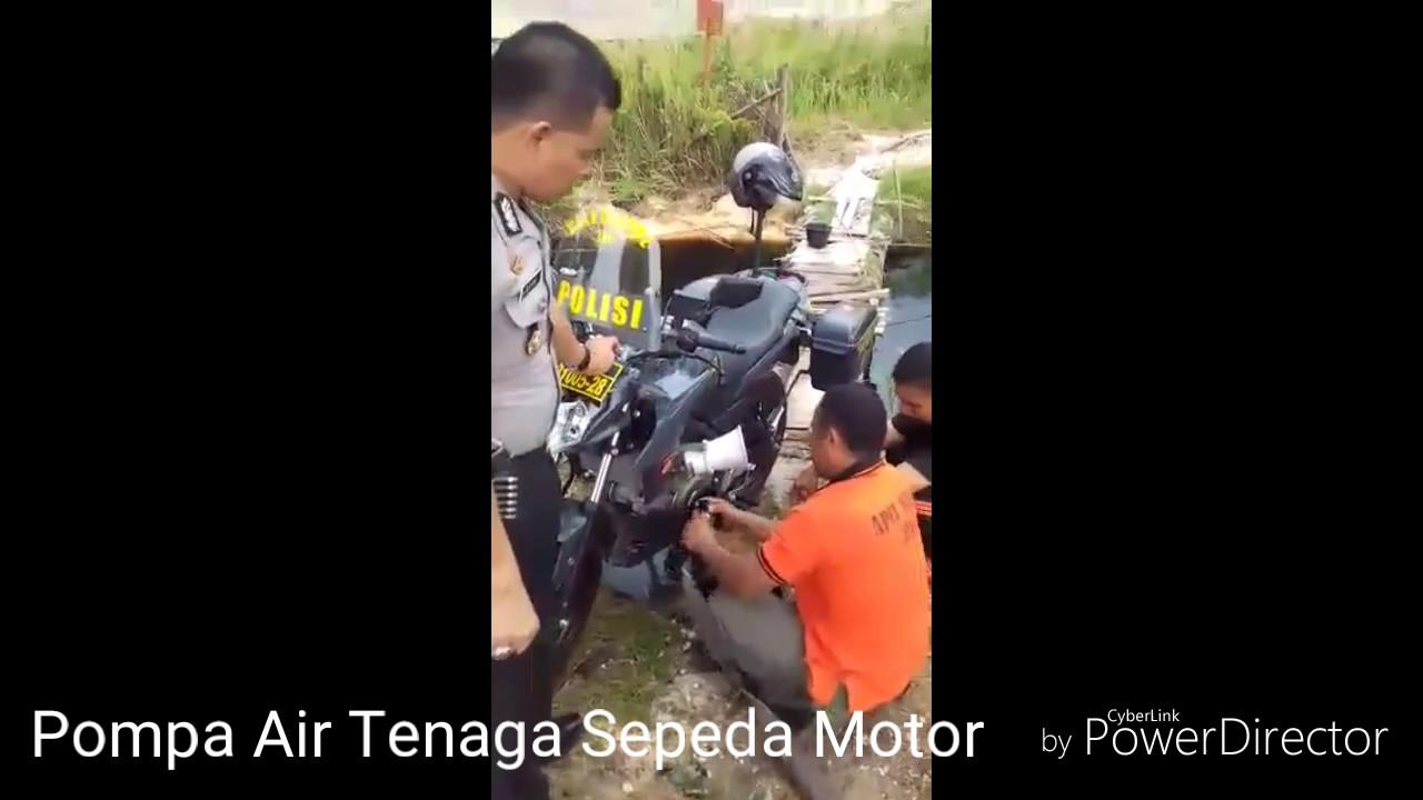 Modifikasi Pompa Air Tenaga Mesin Sepeda Motor Untuk