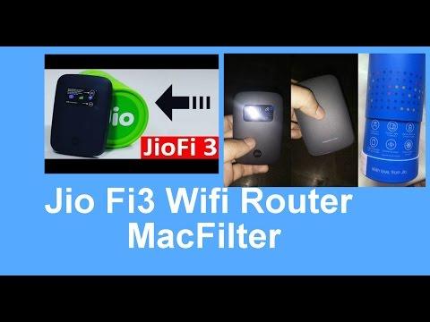 Jio-Fi3 WifiRouterSet MacFilter