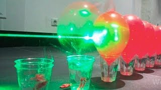100 Laser Balloon Popping Dominoes - You Have been Warned