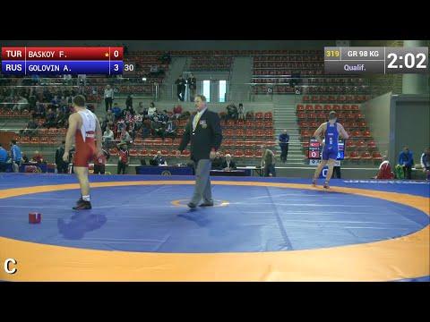 Qualification GR - 98 kg: Fatih  BASKOY (TUR) df. Alexander  GOLOVIN (RUS), 6-1