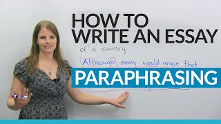 How to write a good essay: Paraphrasing the question(Do you sometimes struggle to begin writing an essay when taking an exam? Good news! There is an important writing skill that will help you improve your essay ..., 2016-09-13T03:32:23.000Z)