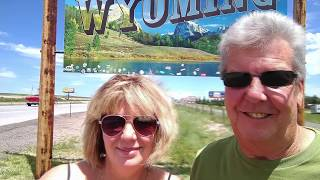 The Journey North 1,  Camping at Glendo State Park and Brooks Lake Wyoming