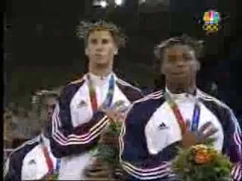 2004 Olympic Mens 400m Medal Ceremony