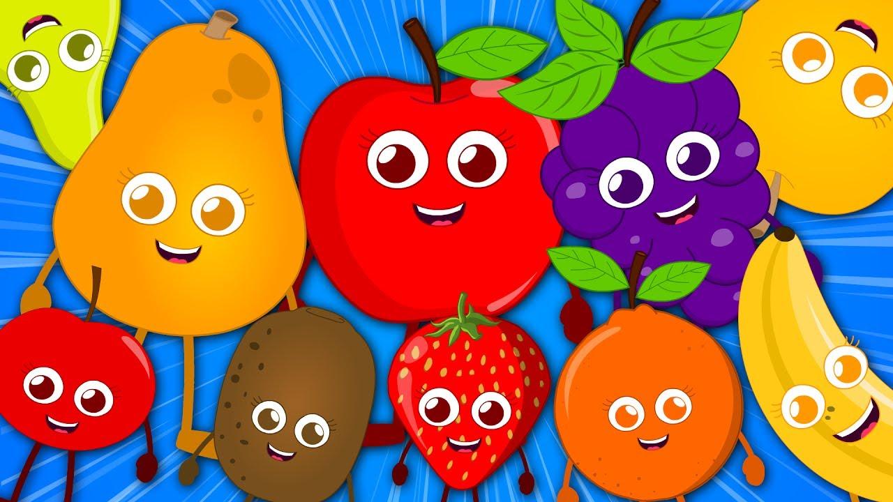 Ten Little Fruits Original Nursery Rhyme Songs For Kids Video Children Baby Rhymes