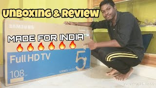 SAMSUNG ON SMART CONCERT SERIES 108CM 43INCH(43N5300) FULL HD SMART TV UNBOXING AND REVIEW
