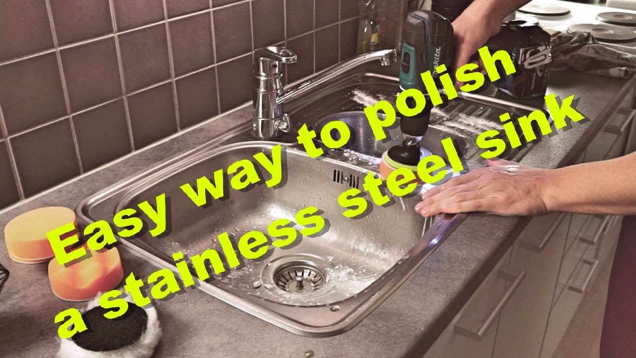 Gentil Easy Way To Polish And Remove Scratches From A Stainless Steel Sink