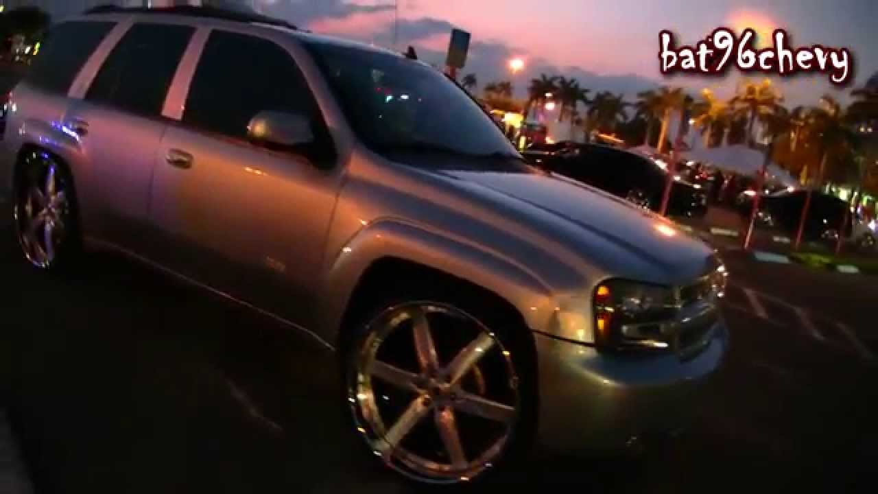 """Silver Chevy Trail Blazer SS on 26"""" Kartier Forged Wheels - 1080p HD - YouTube"""