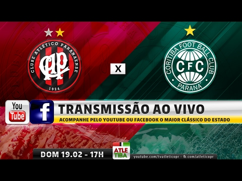 Atlético x Coritiba no YouTube