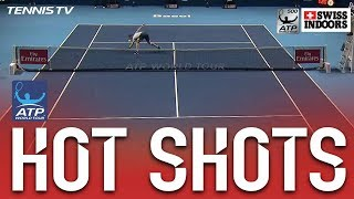Hot Shot: Shapovalov Lunges For Half Volley Basel 2017