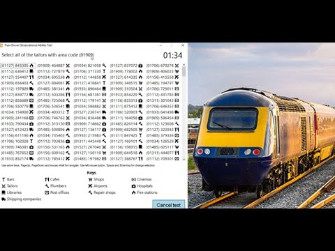 Train Driver Observational Ability Test (Train Driver Recruitment ...