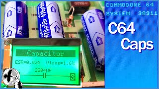 Commodore 64 Restoration - Future Proofing and Capacitor Testing