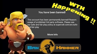 Banned from clash of clans see this video
