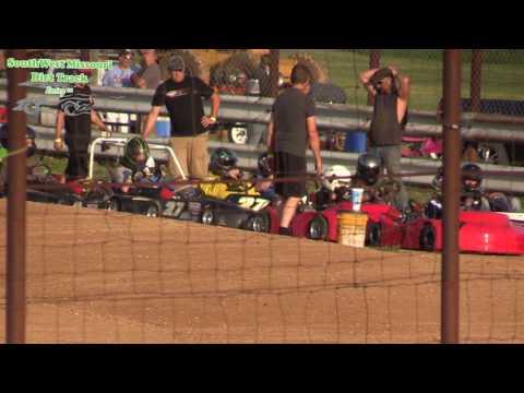 Dallas County Raceway Go Kart Racing All Class Hot Races August 1, 2017