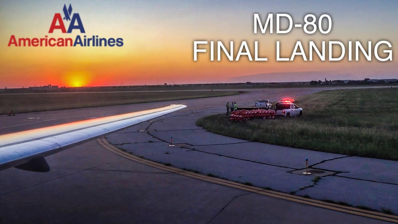 American Airlines MD-80 FINAL LANDING In Amarillo With SUNSET | MD-80 Retirement Flight DFW-AMA