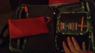 First Impression:  Orla Kiely Weekender Bag as Planner / Filofax Organization / Office in a Bag