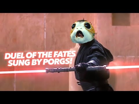 Duel Of The PORGS  Made With Porg Sounds!