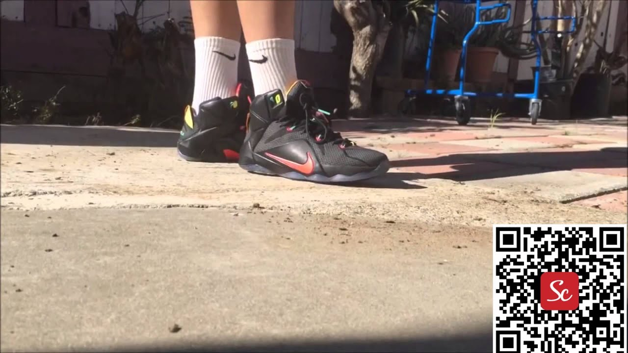 eec7651028112 SoleCool App Nike Lebron 12 Data Shoes Review - YouTube