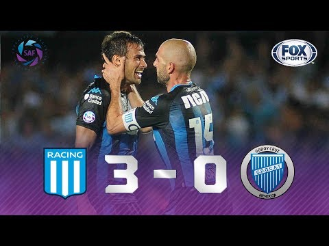 Superliga Argentina: Racing Club 3-0 Godoy Cruz (Highlights)