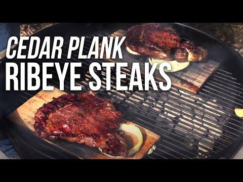 Rib Eye Plank Steaks by the BBQ Pit Boys