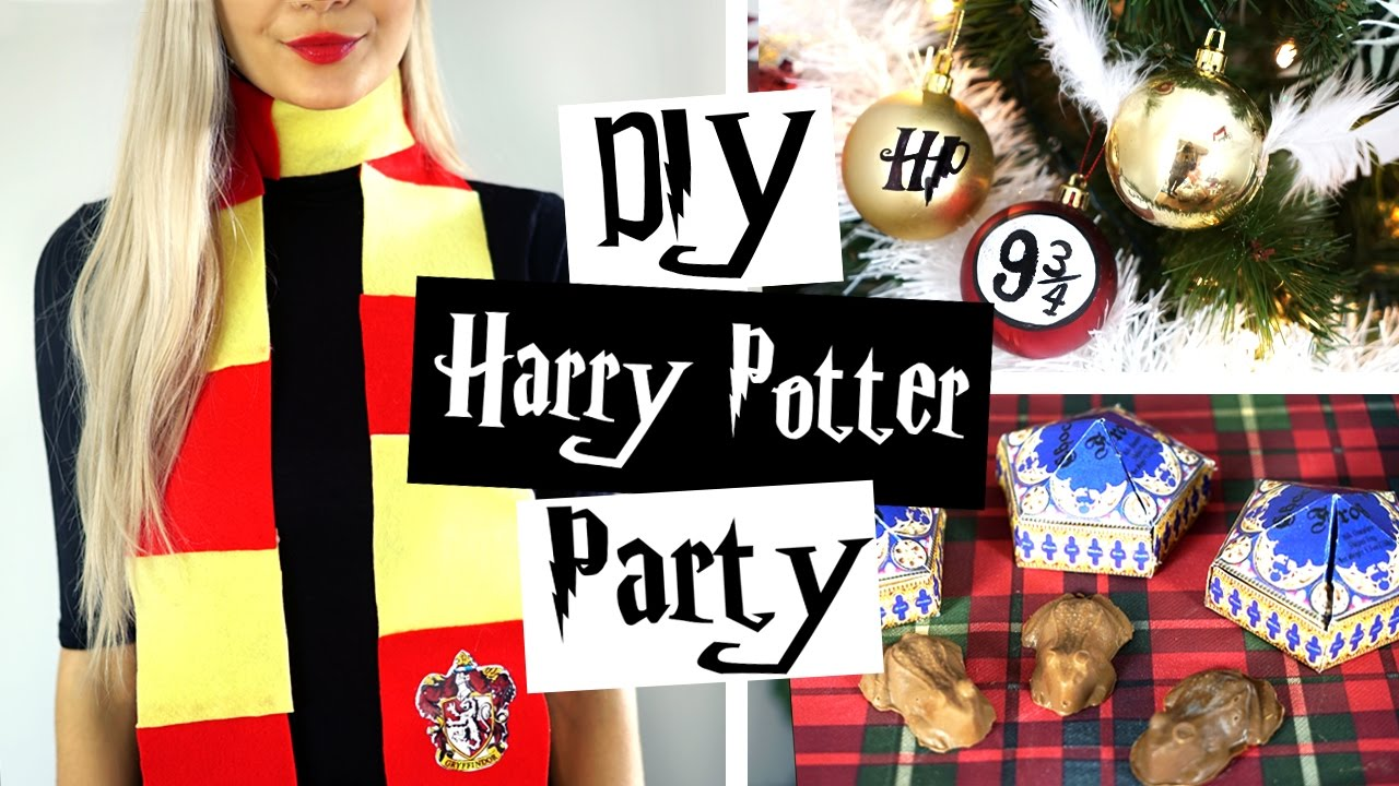 Harry Potter Christmas Gifts.Diy Harry Potter Party Ideas ϟ Decor Gifts Treats