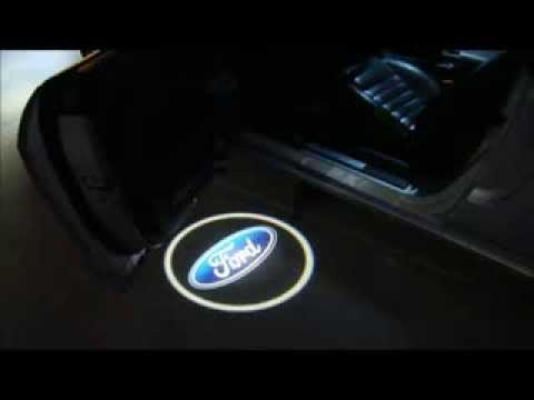 Led Door Courtesy Light Car Logo Ford Youtube