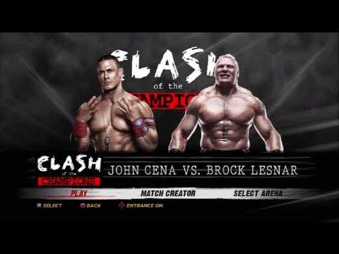 WWE'12 - King of the Ring tournament: John Cena vs Brock ...