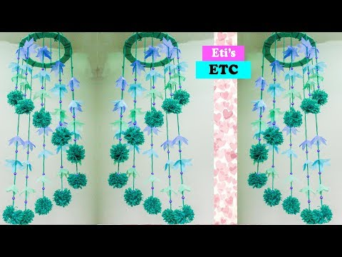 DIY - Amazing wind chime using shopping bags - How to make wind chimes with carry bags - Eti's ETC