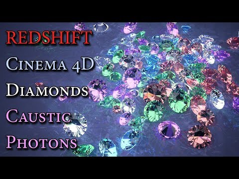 Cinema 4D Tutorial / Redshift Render / Diamond Caustic Photons