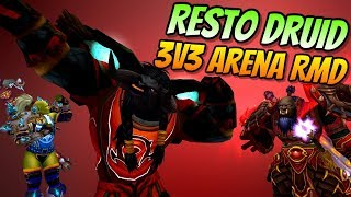Restoration Druid Arena 3v3 RMD | PvP BFA 8.0.1 | World of Warcraft Battle for Azeroth