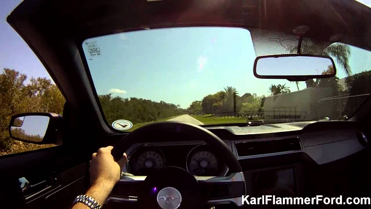 Karl Flammer Ford >> 2011 Ford Mustang GT 5.0 convertible POV test drive - YouTube