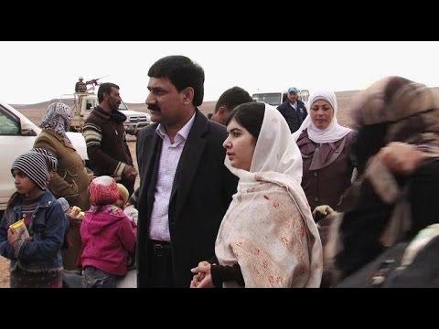 Activist Malala meets Syrian refugees in Jordan