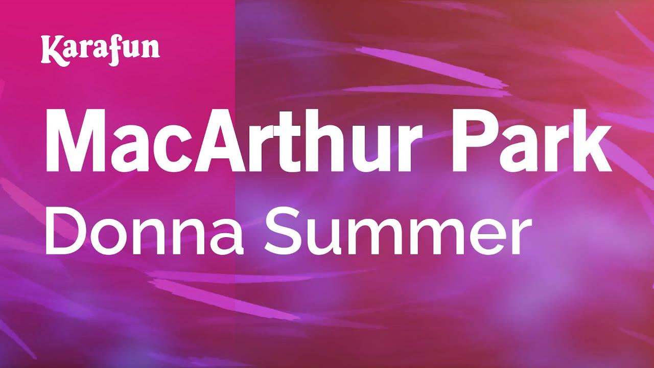 Macarthur park donna summer karaoke