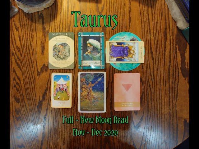 TAURUS: FULL - NEW MOON 7 CARD DRAW= MANIFESTATION + LAUGHTER + GROUNDING MY ENERGY - NOV-DEC 2020