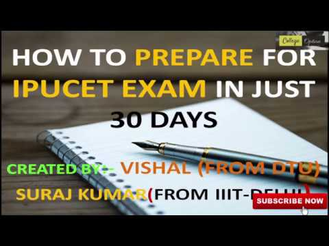 IPUCET 2018 Exam Preparation in 30 days in Hindi - Crack IPU Exam 2018 in 30 days