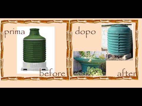 Riciclo creativo serbatoio gas compostiera vaso piante grasse tutorial faidate - Bombolone gas interrato ...
