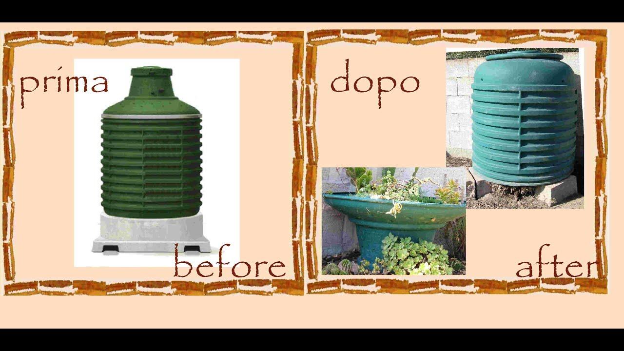 Riciclo creativo serbatoio gas compostiera vaso piante grasse tutorial faidate by riciclando - Bombolone gas interrato ...